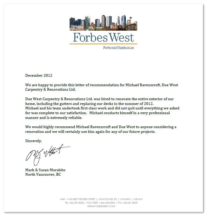 reference letter for construction worker cover letter